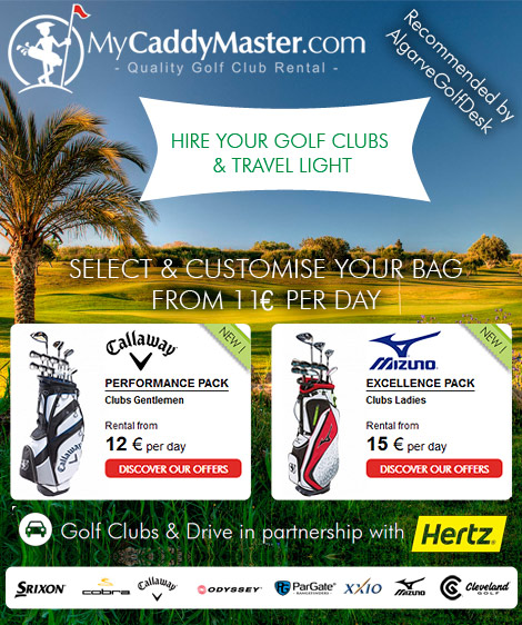 Rent golf clubs in Algarve Portugal with mycaddymaster.com