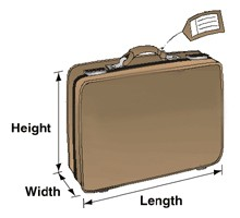 A bag will be weighed and measured to ensure that it meets the dimensional requirements for shipping